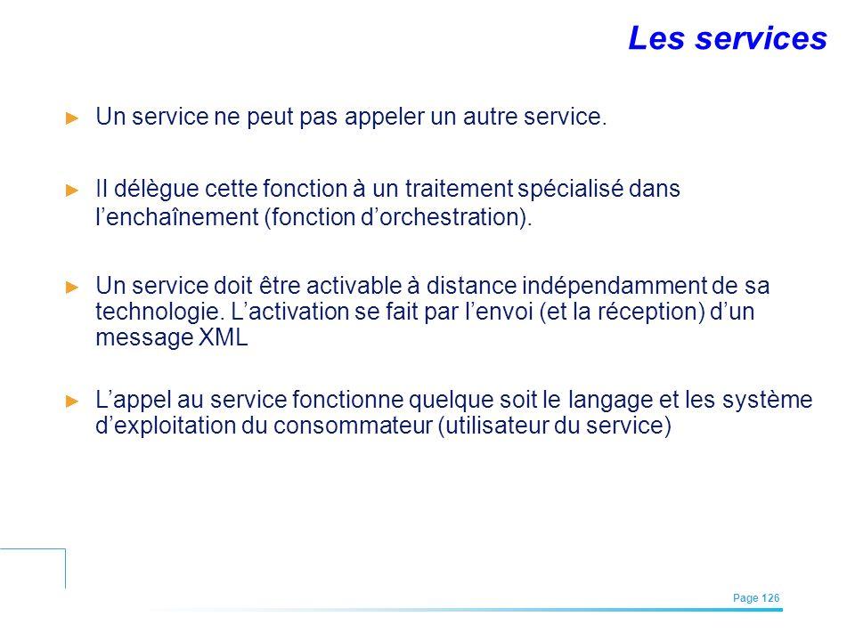 Les services Un service ne peut pas appeler un autre service.