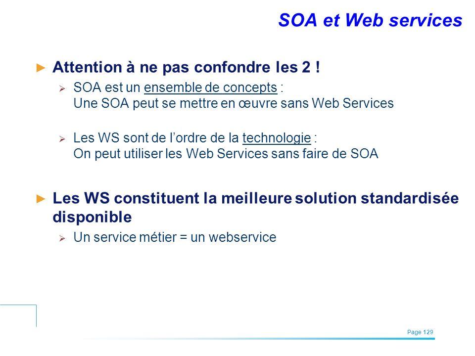 SOA et Web services Attention à ne pas confondre les 2 !