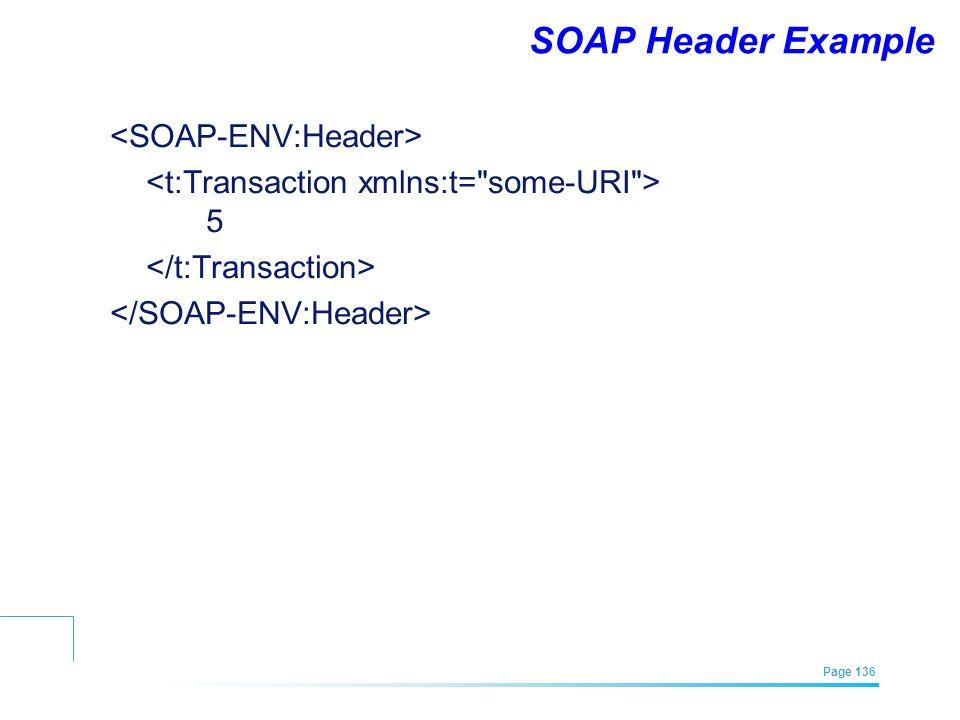 SOAP Header Example <SOAP-ENV:Header>