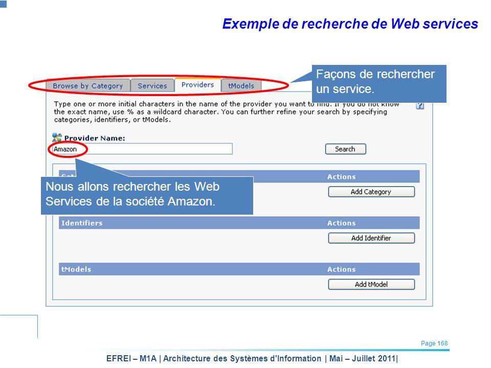 Exemple de recherche de Web services