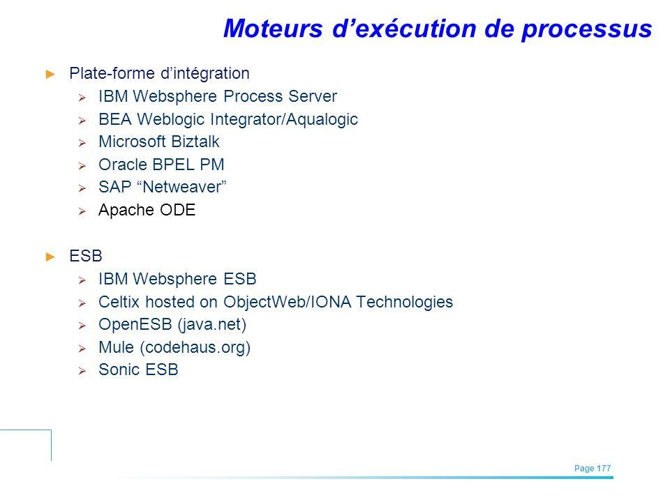 Moteurs d'exécution de processus