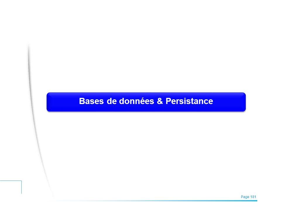Bases de données & Persistance