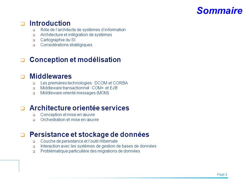 Sommaire Introduction Conception et modélisation Middlewares