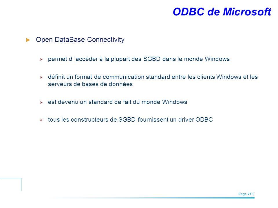 ODBC de Microsoft Open DataBase Connectivity