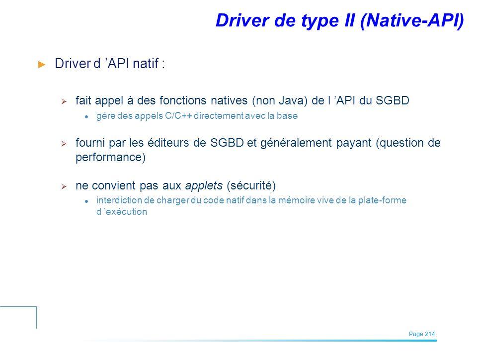Driver de type II (Native-API)