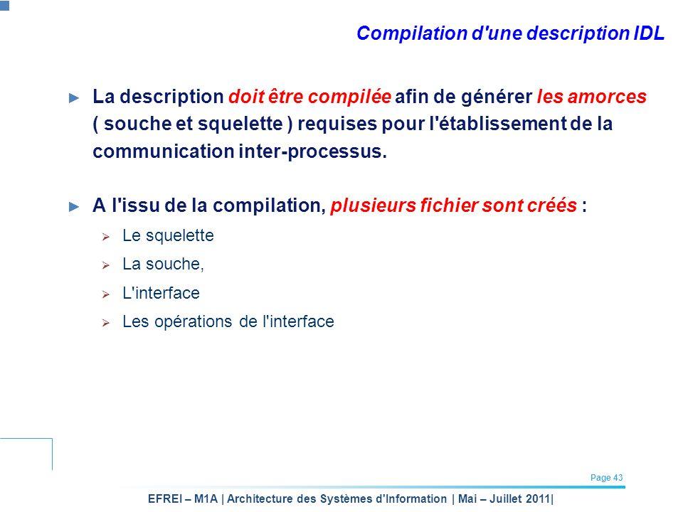 Compilation d une description IDL