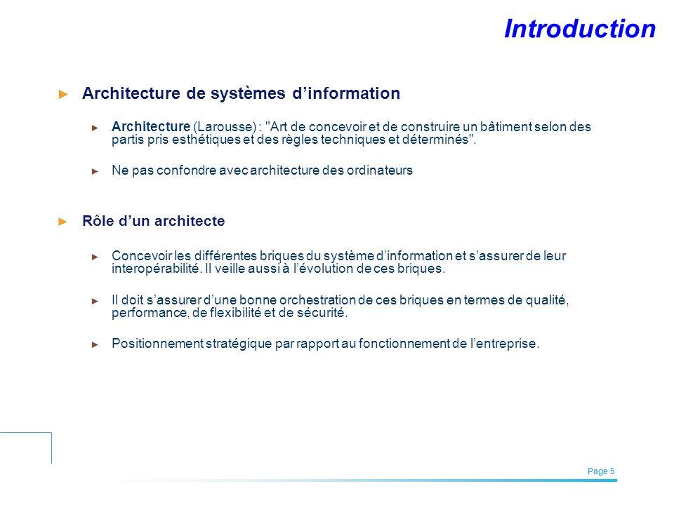 Introduction Architecture de systèmes d'information
