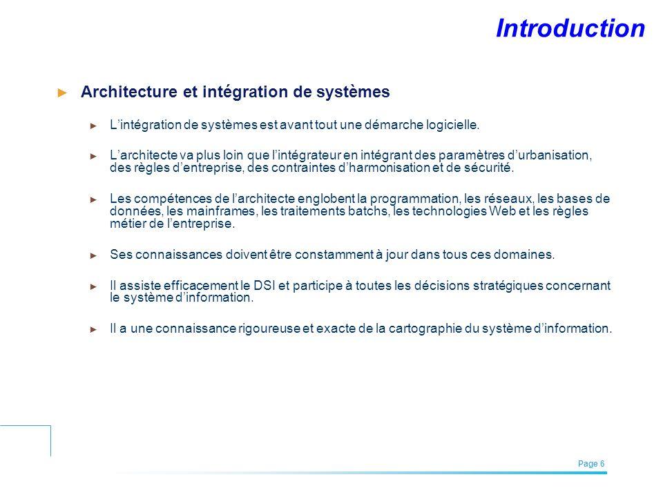 Introduction Architecture et intégration de systèmes