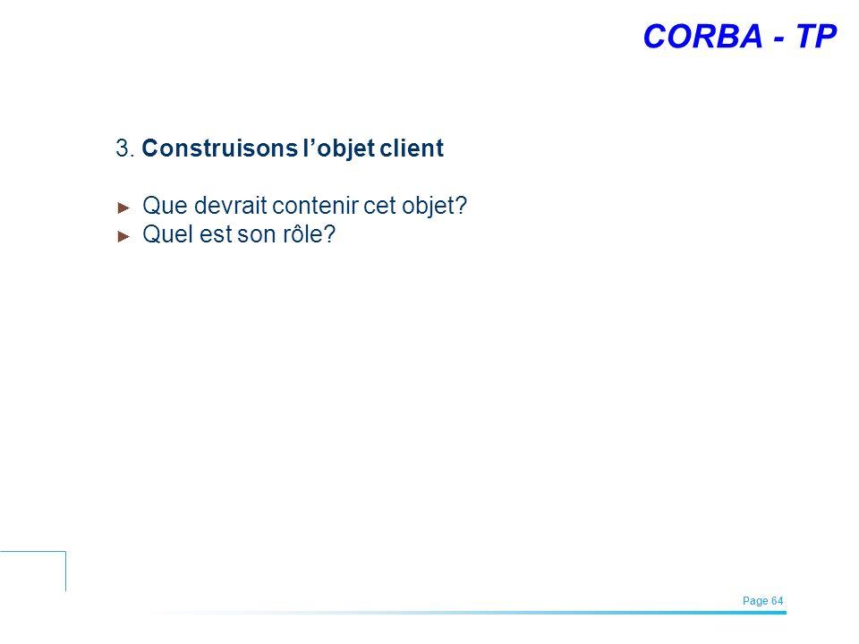CORBA - TP 3. Construisons l'objet client