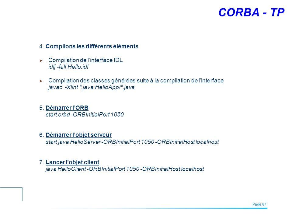 CORBA - TP 4. Compilons les différents éléments