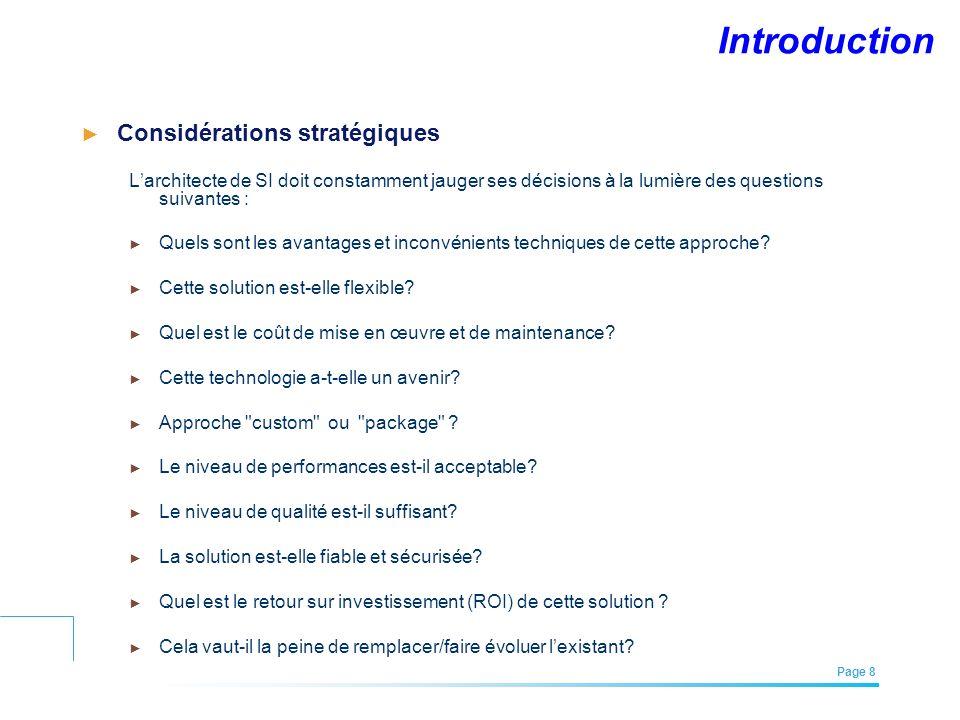 Introduction Considérations stratégiques