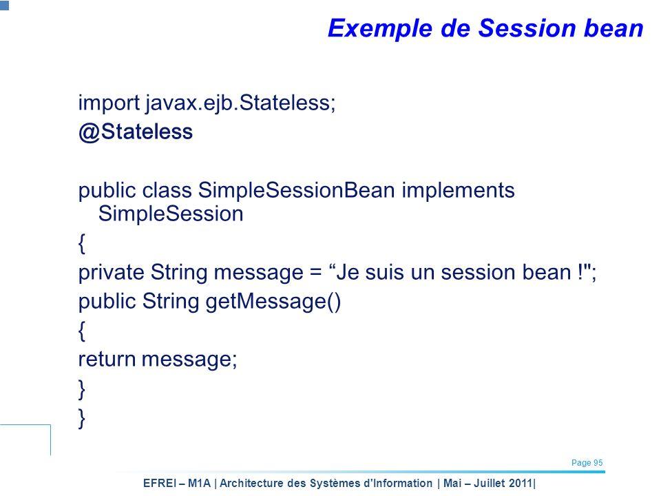 Exemple de Session bean