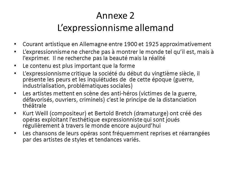 Annexe 2 L'expressionnisme allemand