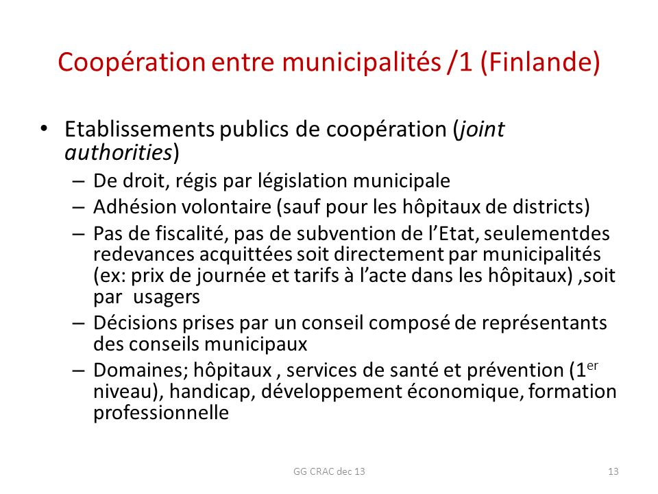 Coopération entre municipalités /1 (Finlande)