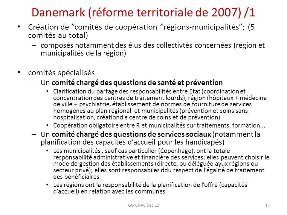 Danemark (réforme territoriale de 2007) /1