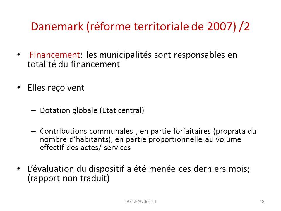 Danemark (réforme territoriale de 2007) /2