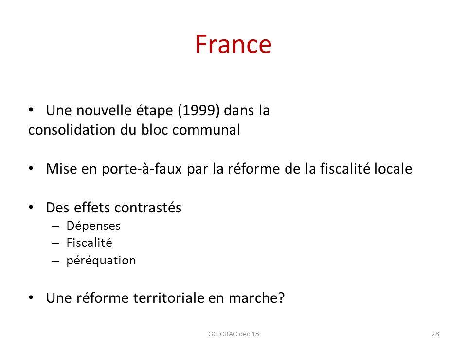 France Une nouvelle étape (1999) dans la