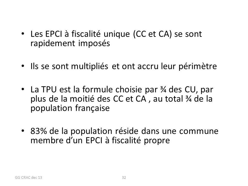 Les EPCI à fiscalité unique (CC et CA) se sont rapidement imposés