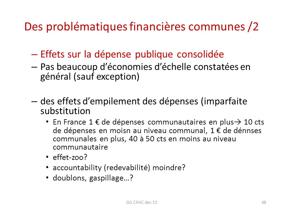 Des problématiques financières communes /2