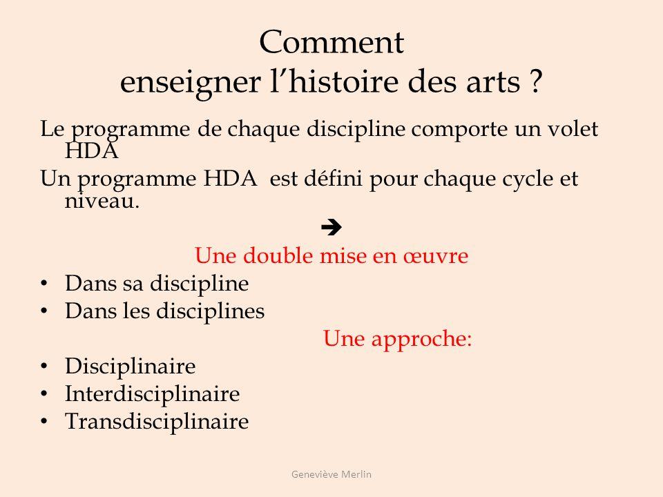 Comment enseigner l'histoire des arts