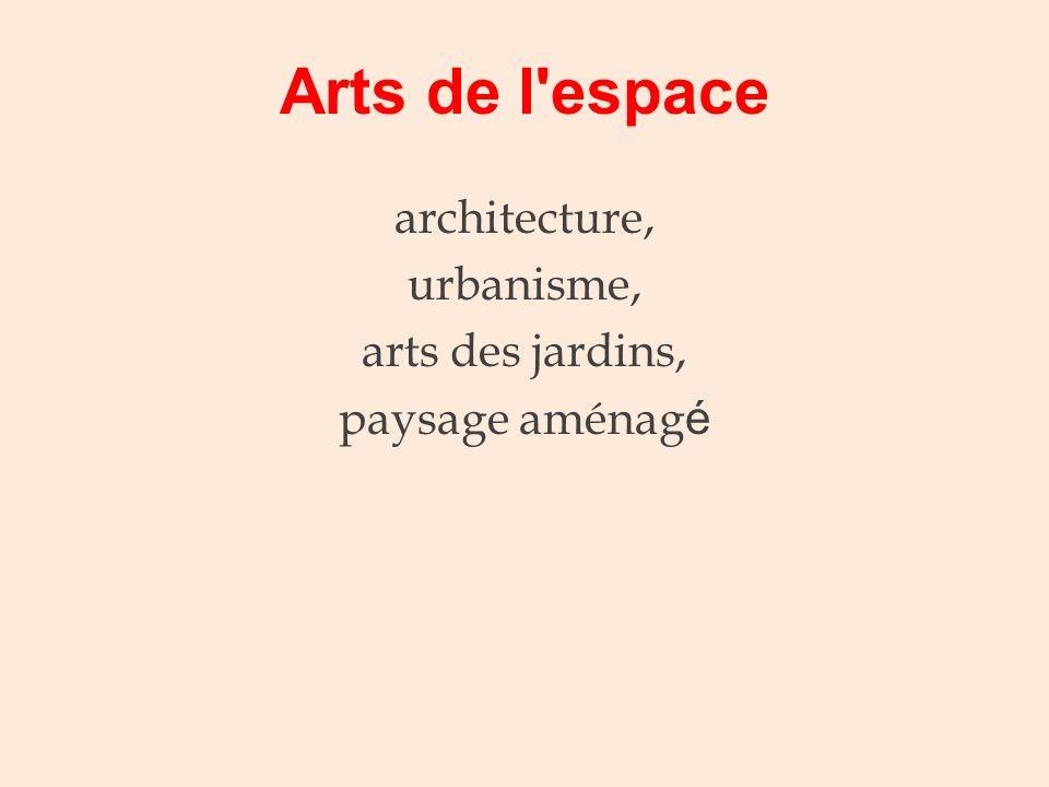 architecture, urbanisme, arts des jardins, paysage aménagé