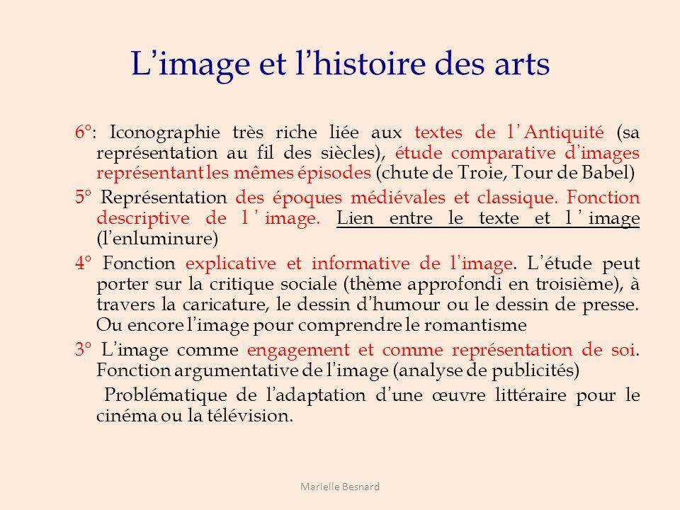 L'image et l'histoire des arts