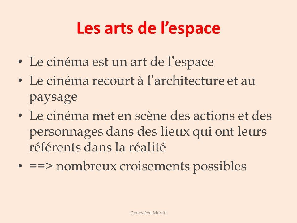 Les arts de l'espace Le cinéma est un art de l'espace