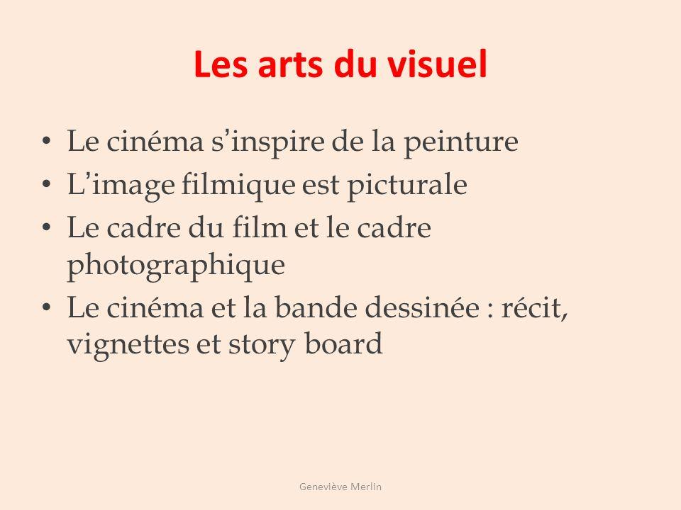 Les arts du visuel Le cinéma s'inspire de la peinture