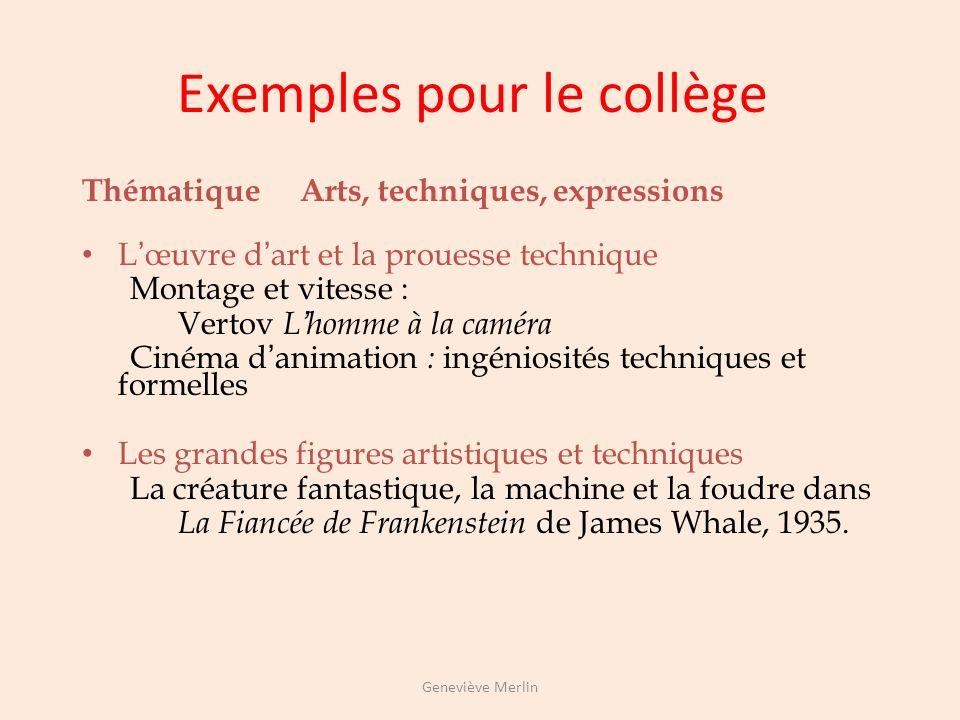 Exemples pour le collège