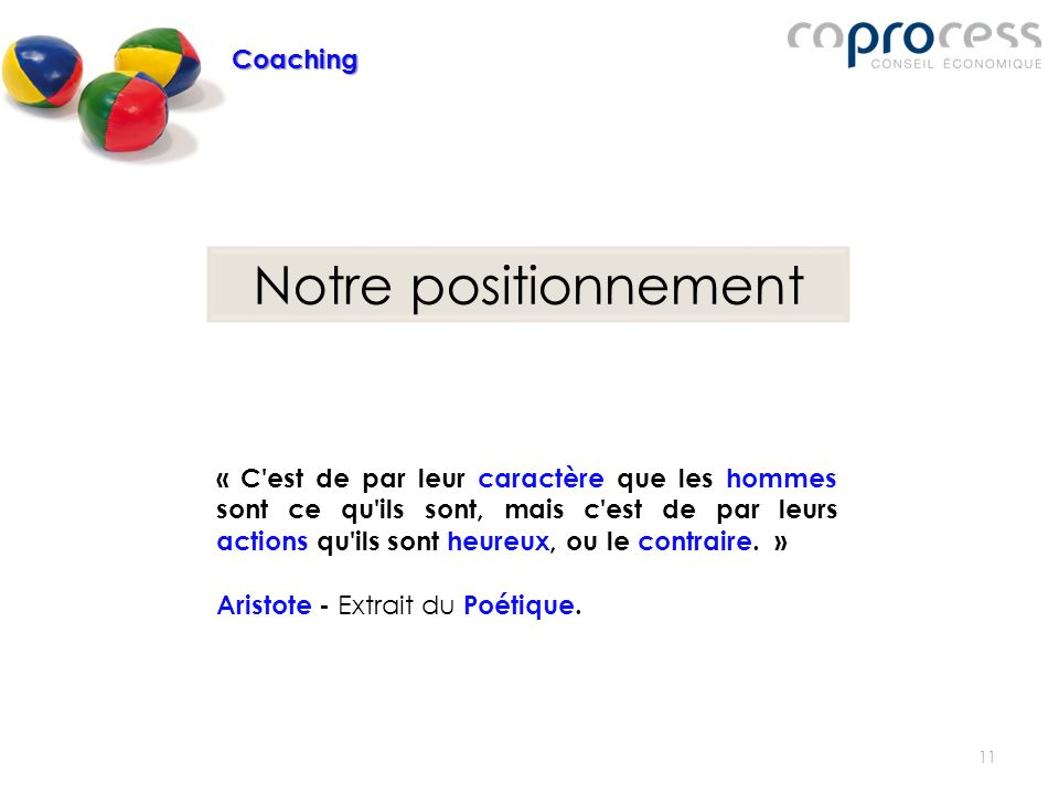Notre positionnement Coaching