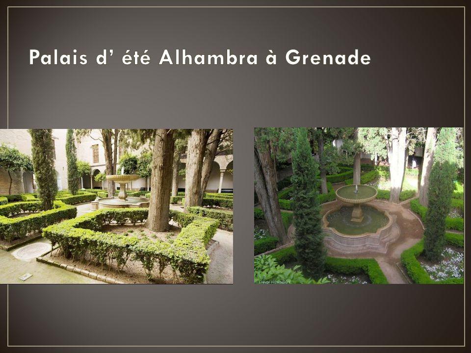Palais d' été Alhambra à Grenade