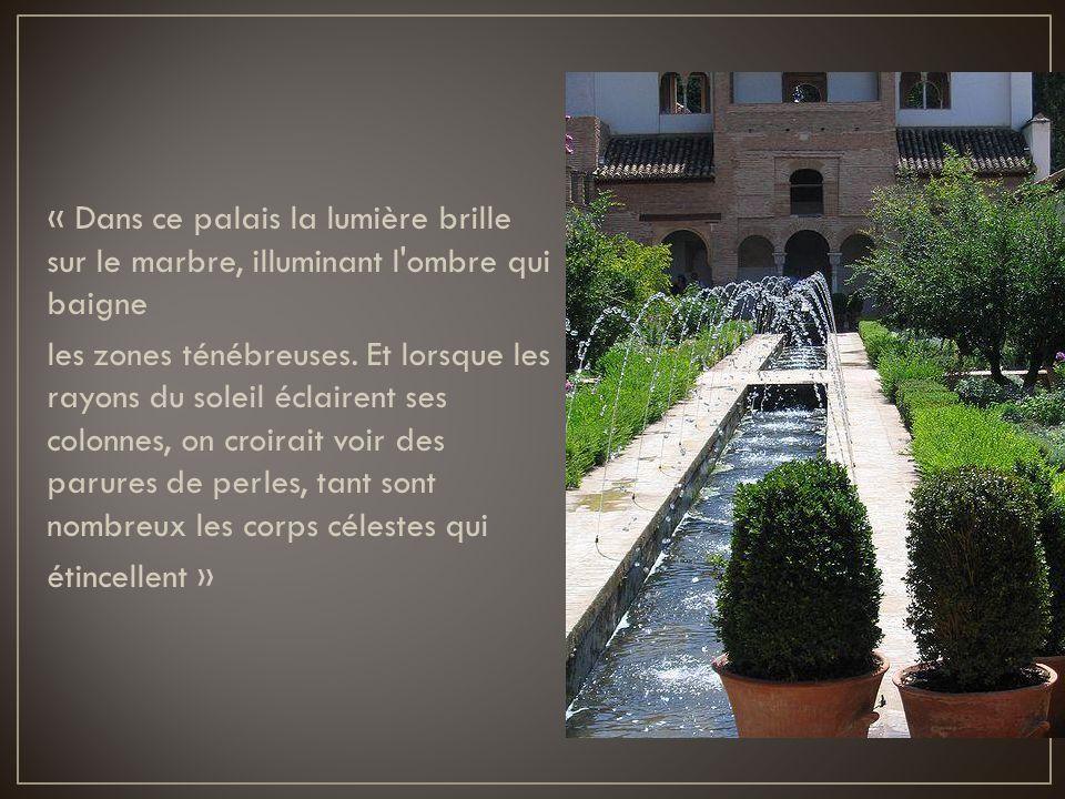 « Dans ce palais la lumière brille sur le marbre, illuminant l ombre qui baigne les zones ténébreuses.