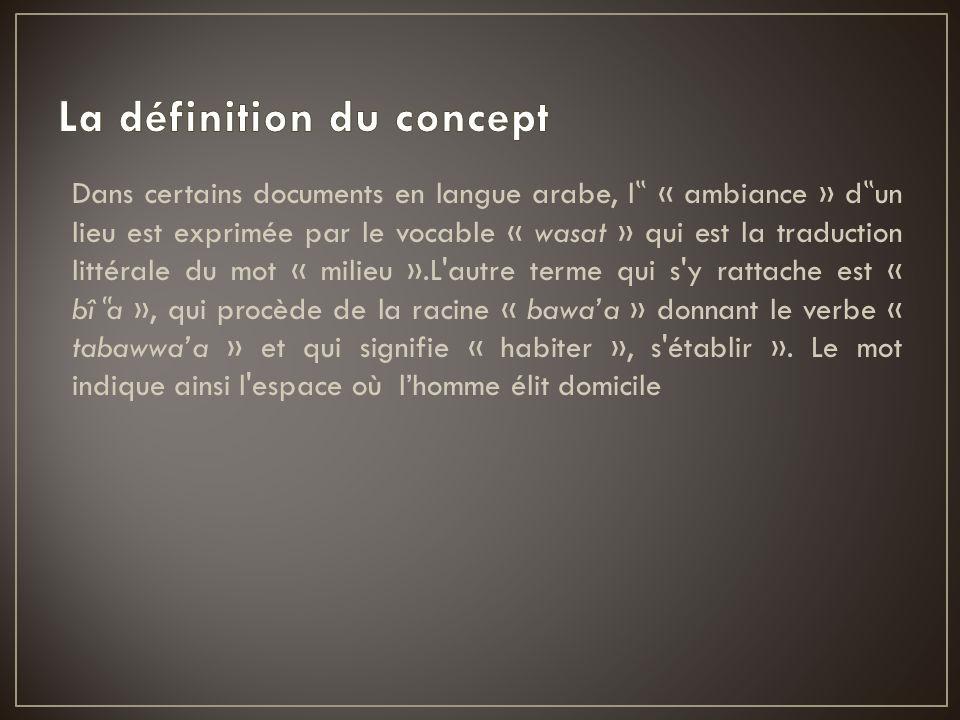 La définition du concept
