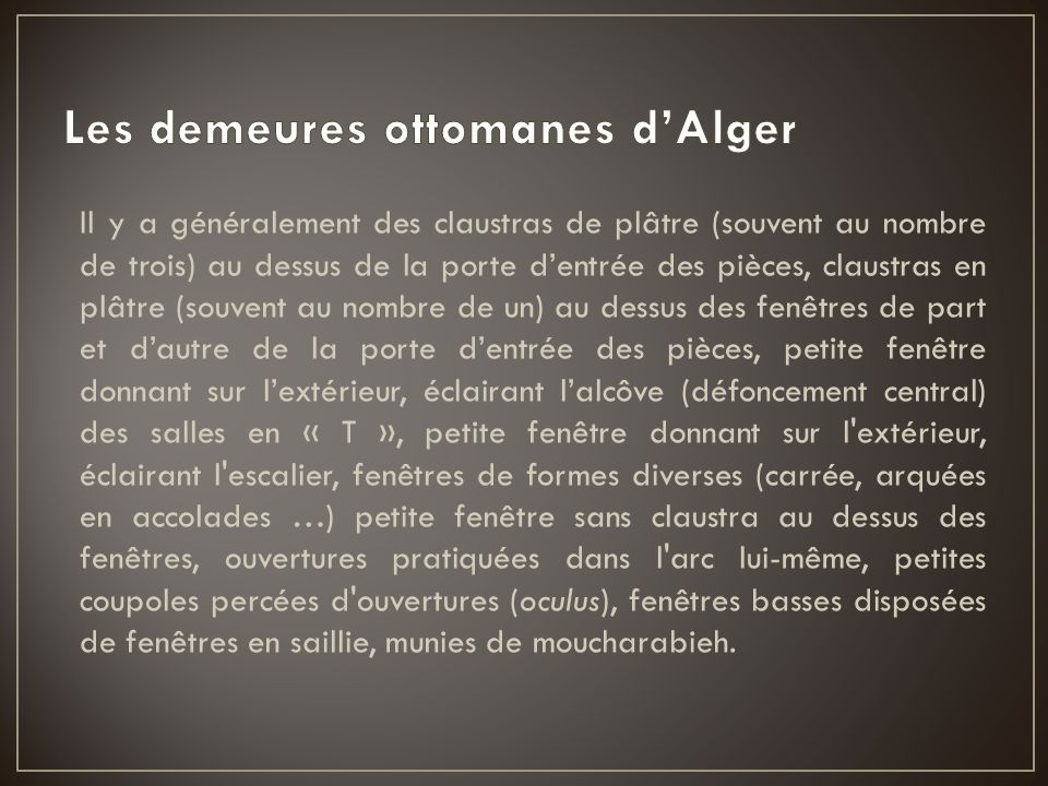 Les demeures ottomanes d'Alger