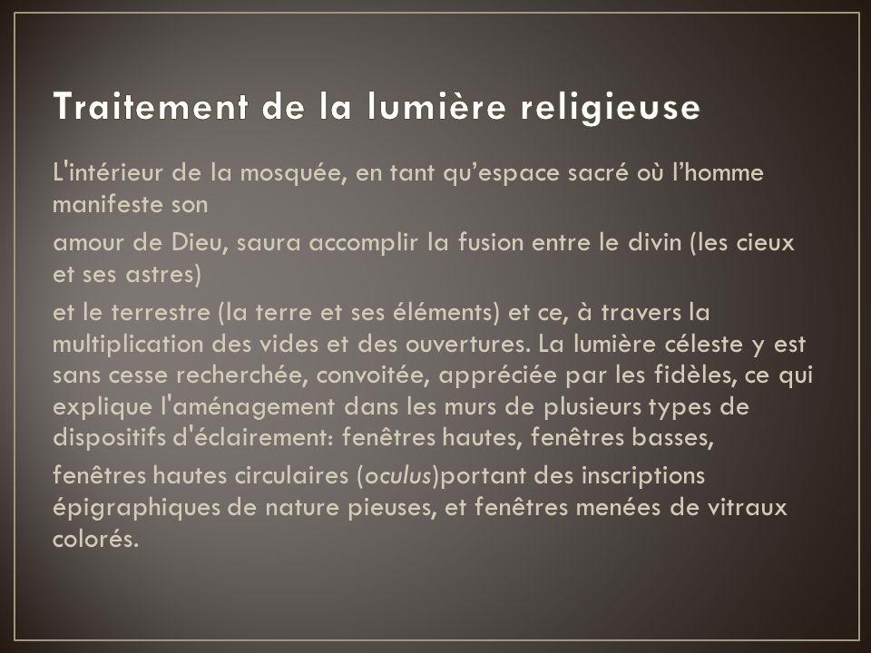 Traitement de la lumière religieuse