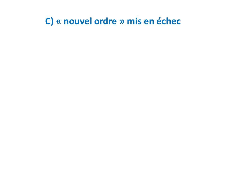 C) « nouvel ordre » mis en échec