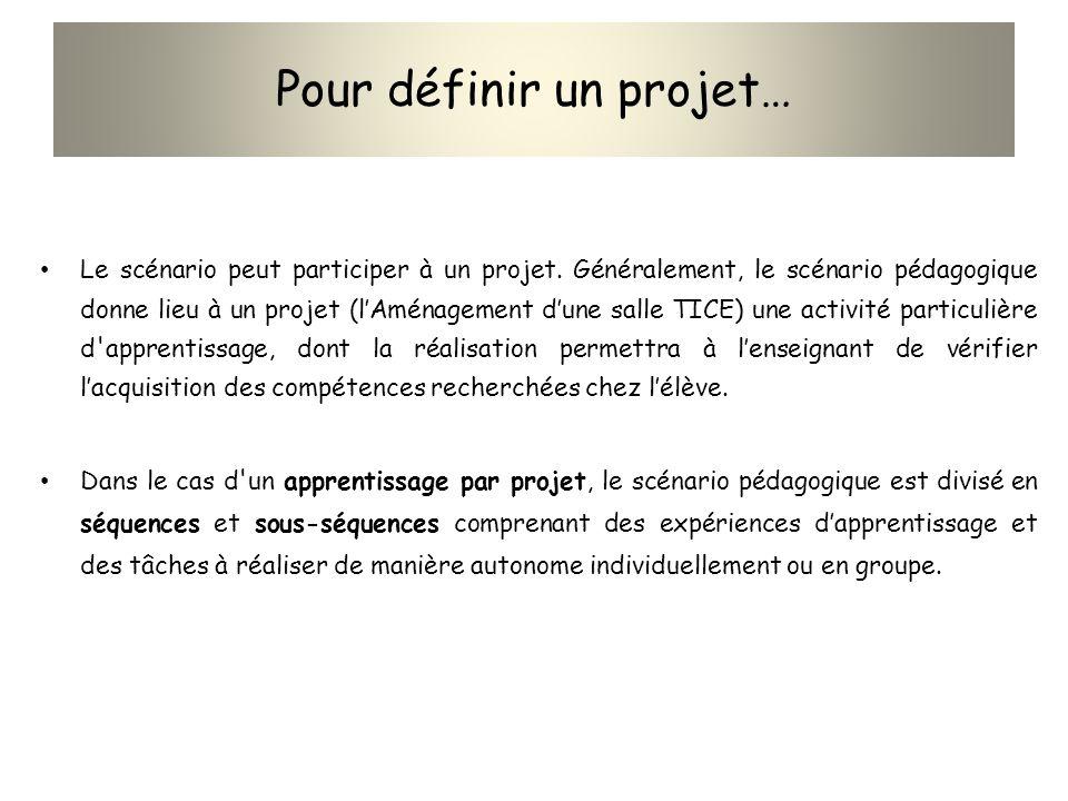 Pour définir un projet…