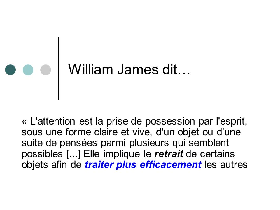 William James dit…
