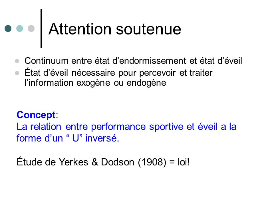 Attention soutenue Concept: