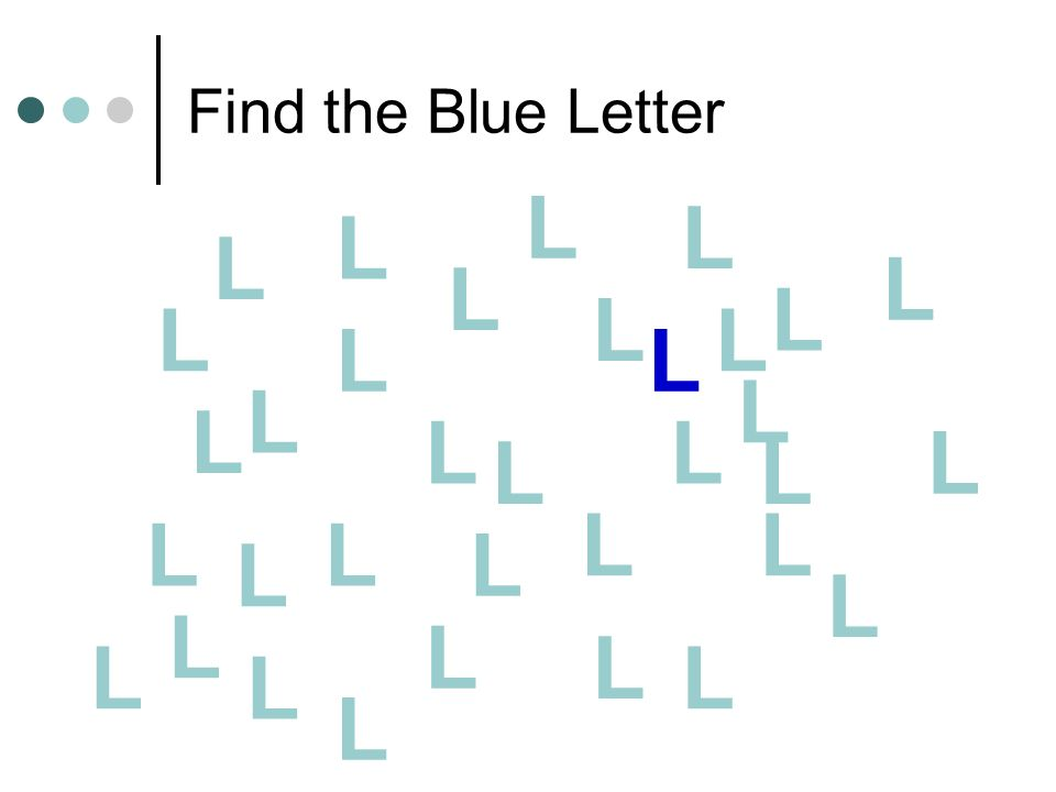 Find the Blue Letter L