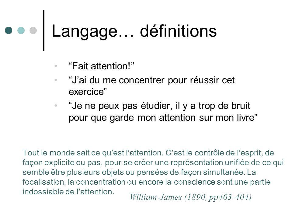 Langage… définitions Fait attention!