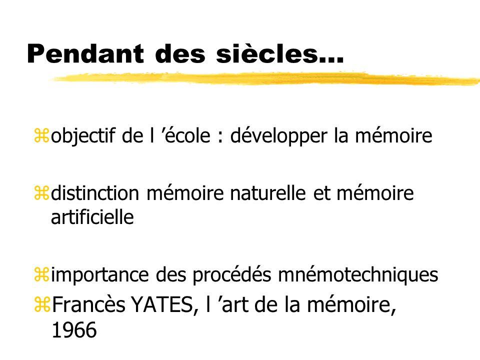 Pendant des siècles… Francès YATES, l 'art de la mémoire, 1966