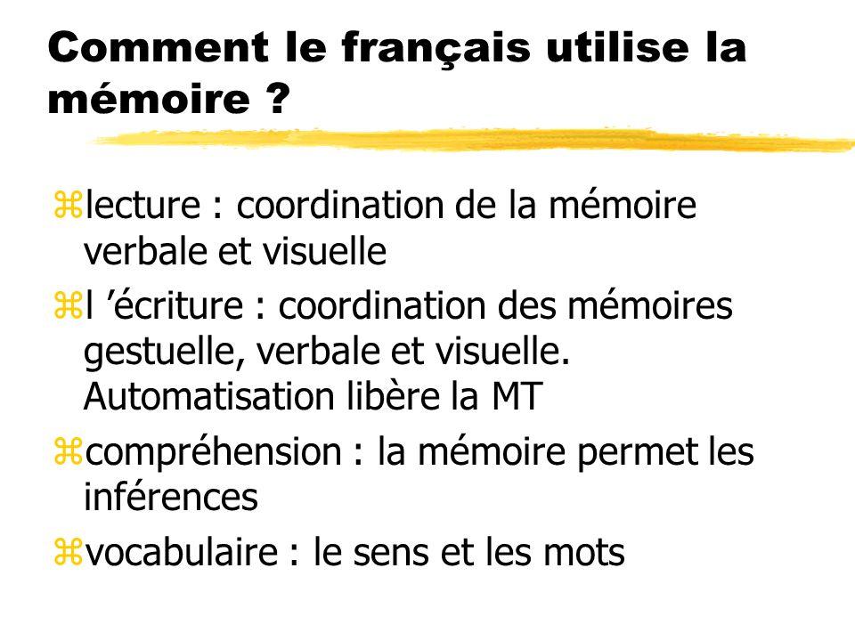 Comment le français utilise la mémoire
