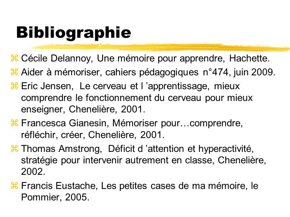 Bibliographie Cécile Delannoy, Une mémoire pour apprendre, Hachette.