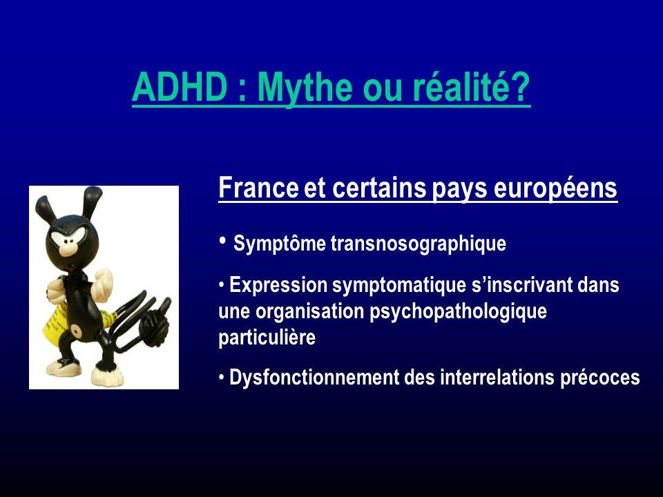 ADHD : Mythe ou réalité France et certains pays européens