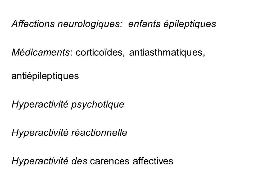 Affections neurologiques: enfants épileptiques