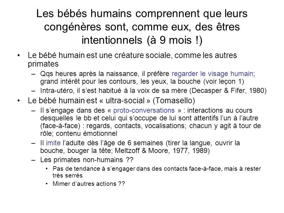 Les bébés humains comprennent que leurs congénères sont, comme eux, des êtres intentionnels (à 9 mois !)