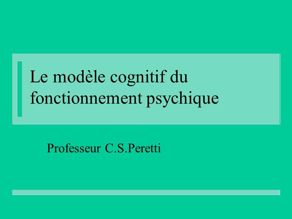 Le modèle cognitif du fonctionnement psychique