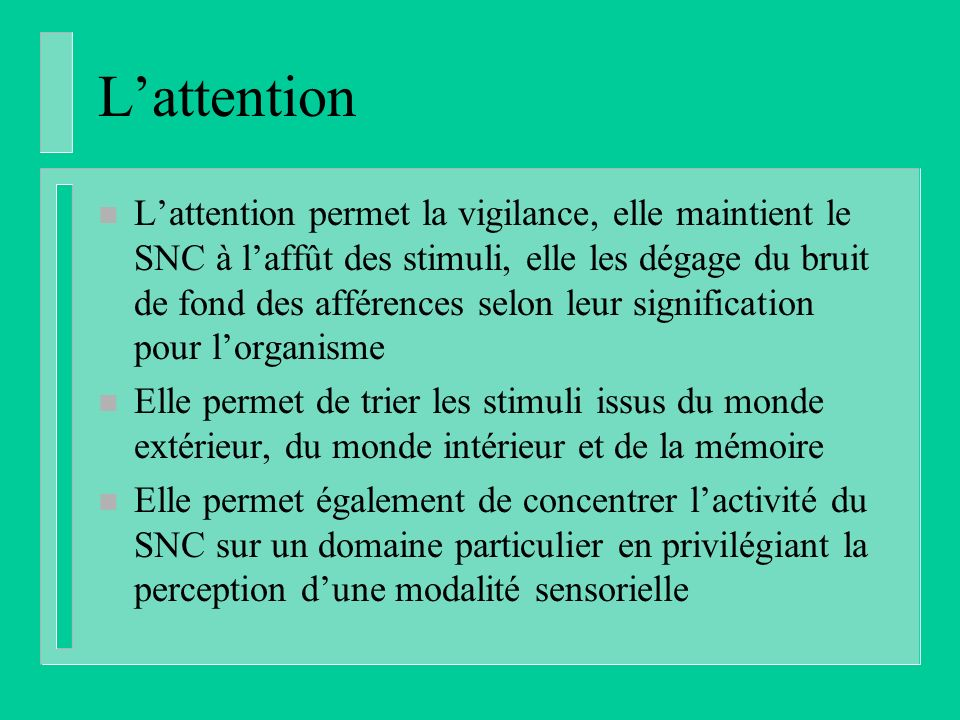 L'attention