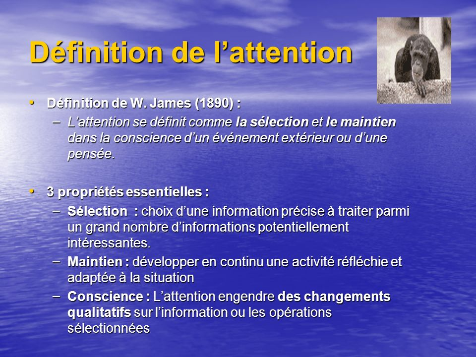 Définition de l'attention